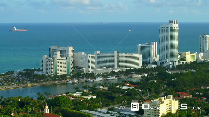 Fontainebleau Hotel Miami Beach drone aerial video 4k