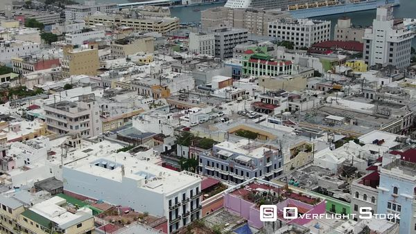 Old City San Juan Puerto Rico Drone Aerial View