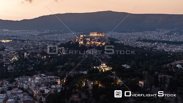 Drone Video Accropolis Athens Greece