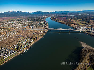 Golden Ears Bridge and Fraser River