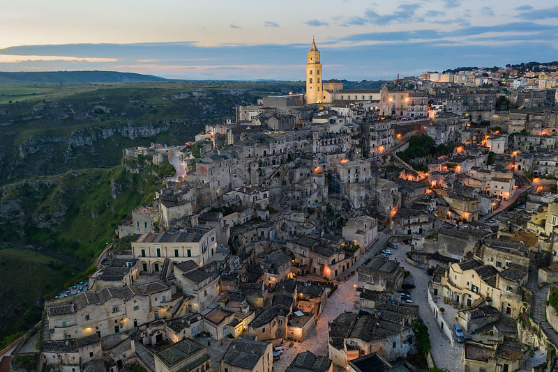 Elevated View of Matera at Dawn