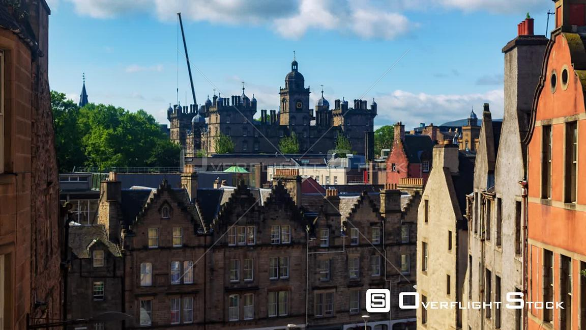 Timelapse View of Edinburgh Old Town from Victoria Street Scotland