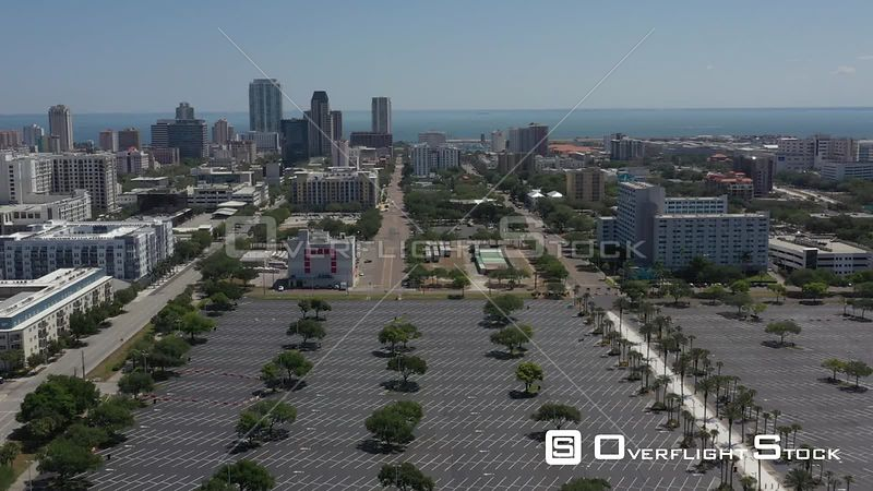 Aerial Footage St. Petersburg Florida Tropicana Field Covid 19 Empty Streets