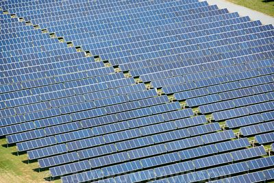Aerial photograph of Solar Panels