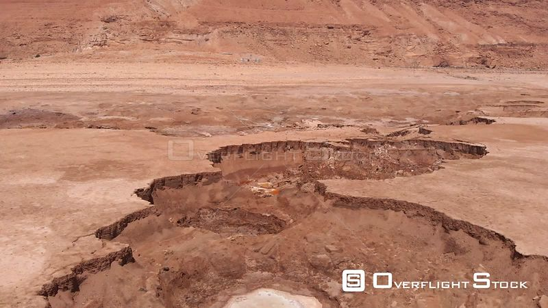 Large sinkhole in Dead Sea Israel