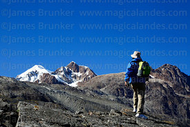 Hiking towards Mt Ancohuma and Laguna Glaciar, Bolivia