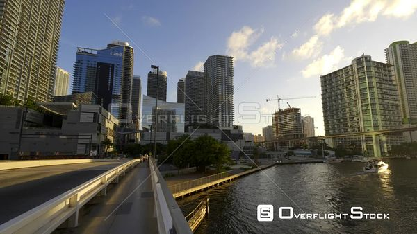 Highrise Buildings Surrounding the Miami River Downtown Miami Brickell C4k