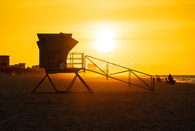 Pensacola Beach Florida Lifeguard Tower Two Sunrise Photo