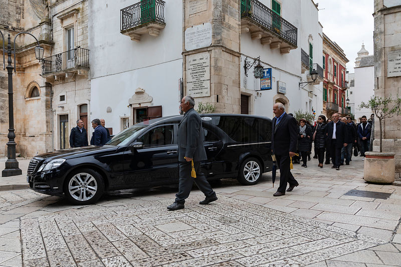 The Hearse Leaves with the Deceased en-Route to the Cemetery