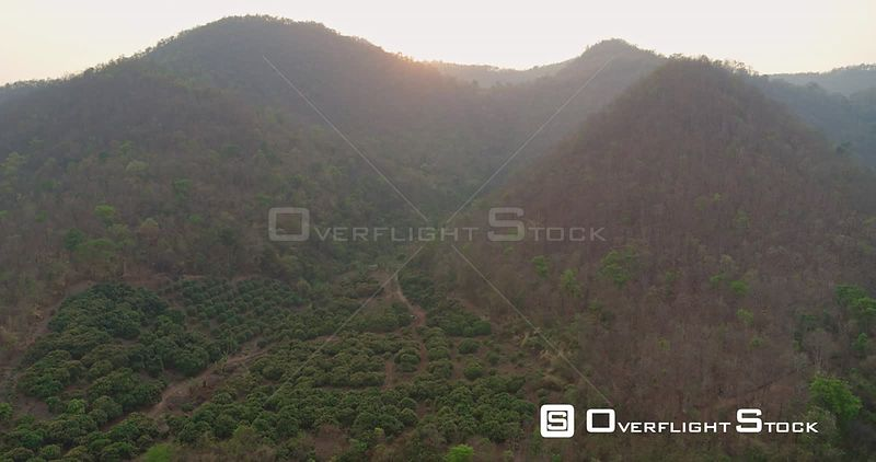 Thung Pi Thailand Aerial Mix of views of picturesque mountain landscape