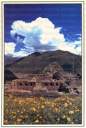 #106 View of the temple complex, Pisac, Sacred Valley