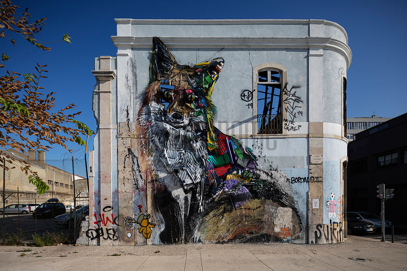 Bordalo II's Fox Street Art