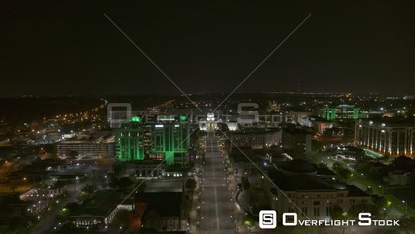 Montgomery Alabama birds eye view of the capitol building and dexter avenue  DJI Inspire 2, X7, 6k