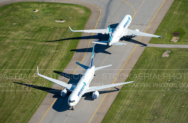 Westjet 767 Aircraft Parked on Taxiway due to pandemic