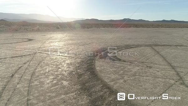 Soggy Dry Lake Dirt Back Roads California