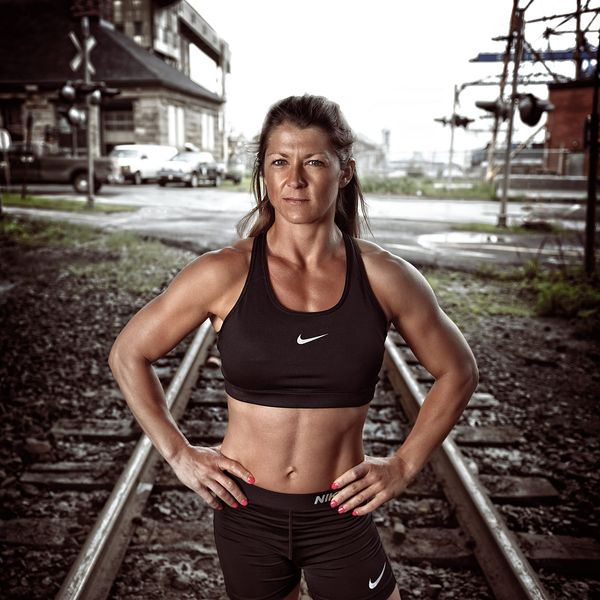 Montreal editorial portrait photographer, female bodybuilder Karine