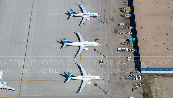 Parked Westjet 737's during COVID-19