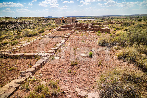 Puerco Pueblo in Petrified Forest National Park, Arizona