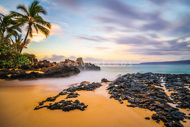 Secret Cove Wedding Beach Maui Hawaii Sunrise Photo
