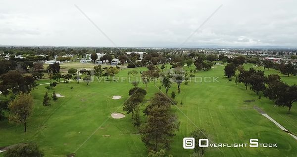 Drone Video Golf Course Los Angeles during COVID-19 Pandemic