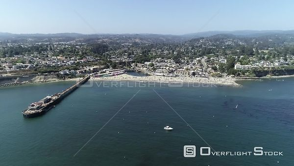 Capitola North Pier and Beach on Monerey Bay California Drone Video