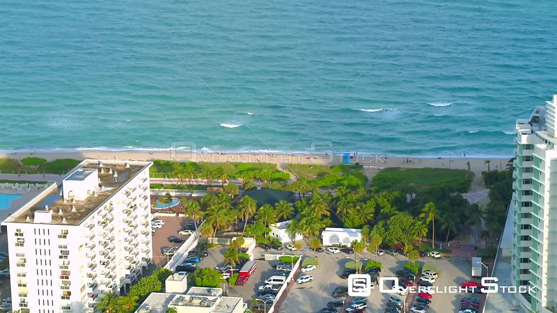 Aerial video of the new Miami Beach Atlantic Greenway 4k
