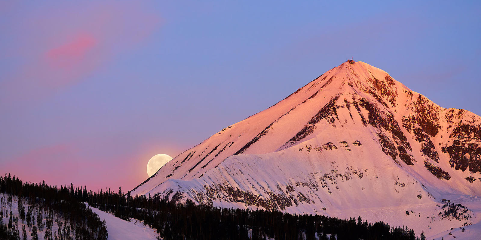 Big Sky Moonset