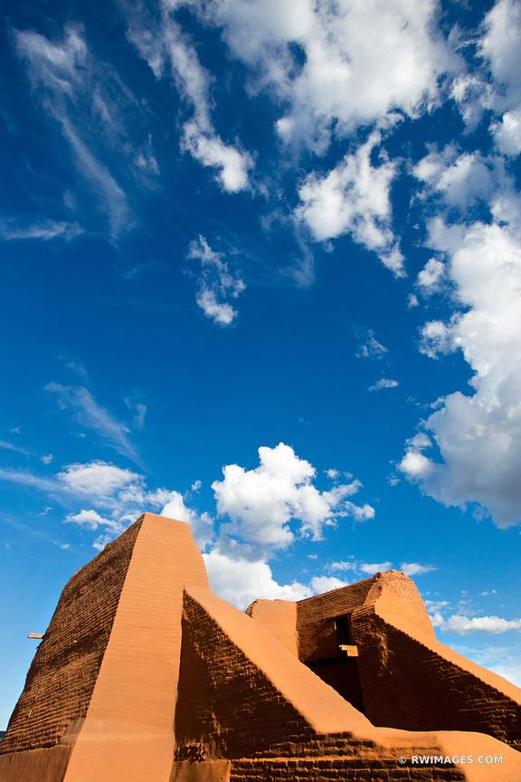 NATIVE AMERICAN ANCESTRAL PUEBLOAN PUEBLO RUINS PECOS NATIONAL HISTORICAL PARK NEW MEXICO VERTICAL
