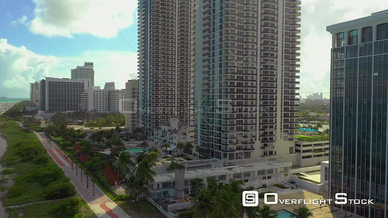 Aerial pool deck luxury condominium Blue and Green Diamond Miami Beach
