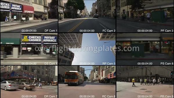Broadway Downtown  Los Angeles California USA - Driving Plate Preview 2012