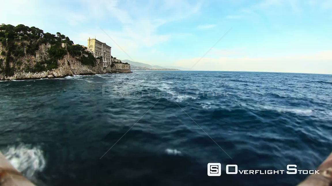 Time lapse of coastline shore in Monaco.