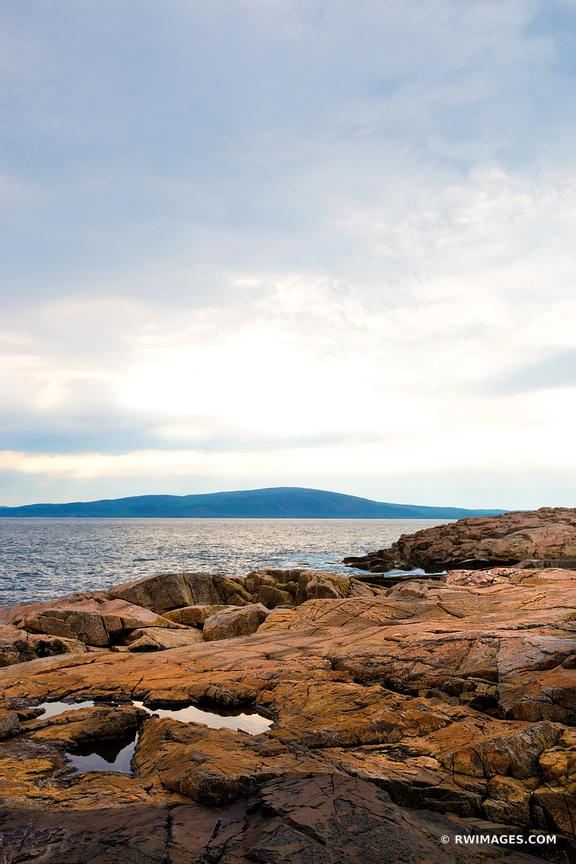 SCHOODIC PENINSULA ACADIA NATIONAL PARK MAINE COLOR
