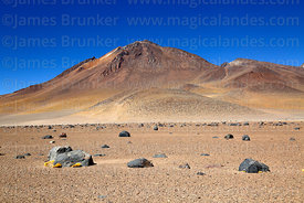 View of Cerro Laguna Verde volcano from west, Eduardo Avaroa Andean Fauna National Reserve, Bolivia