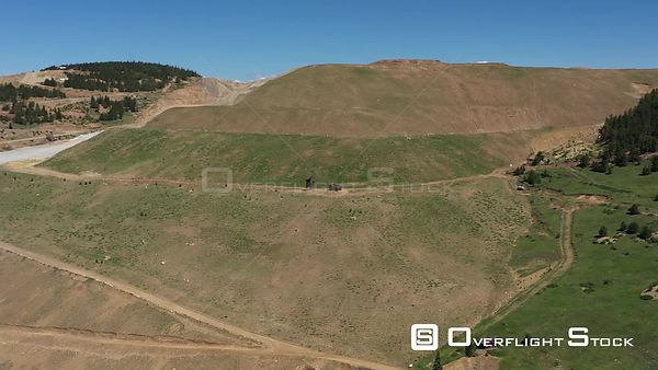 Open pit gold mine in the mountains, Victor, Colorado, USA