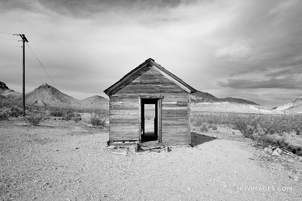 GHOST TOWN RHYOLITE NEVADA NEAR DEATH VALLEY NATIONAL PARK BLACK AND WHITE