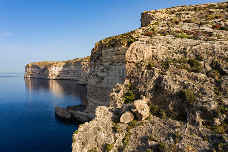 Limestone Sea Cliffs at Xlendi