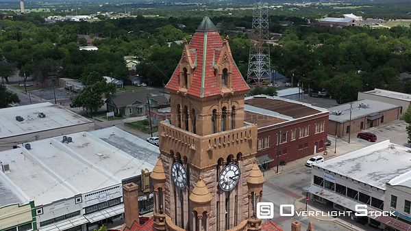 Clocktower, and masonry details, Wise County Courthouse, Decatur, Texas, USA