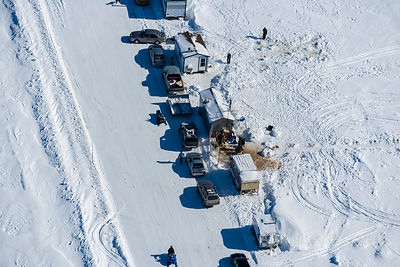 Ice Fishing St-Barthelemy Station Quebec Canada