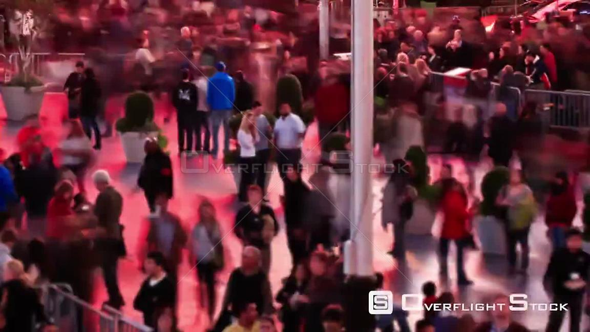 NYC New York USA Busy city pedestrian traffic time lapse of Times Square area.