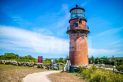The famous Gay Head Light in Cape Cod Martha's Vineyard, Massachusetts