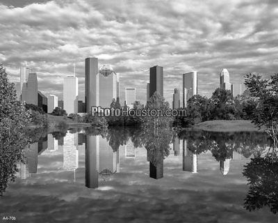 Reflection of Houston Skyline