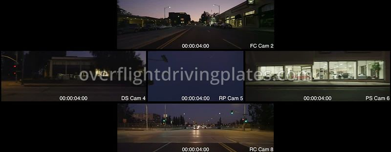 West Colorado Boulevard Dusk  Pasadena California USA - Driving Plate Preview 2012