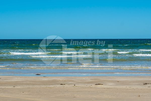 The overlooking view of the shore in Padre Island NS, Texas