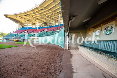 View of the Stands and Players Dugout at McCoy Stadium