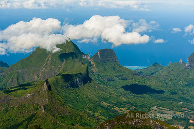 Mountain and Jungle Terrain Moorea Island French Polynesia