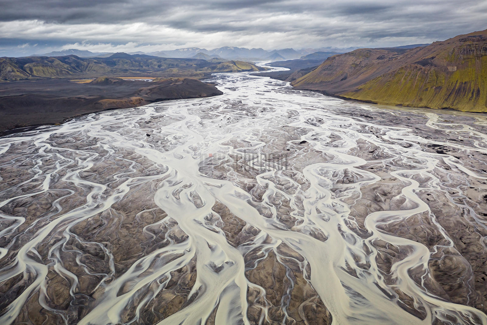 Braided Channels of the Tungná which flows from Vatnajökull Glacier
