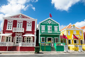 Coulorful colonial houses, Pietermaai District, Willemstad, Curaçao