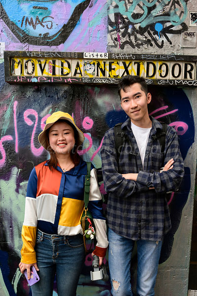 Young couple, Hosier Lane, Melbourne.