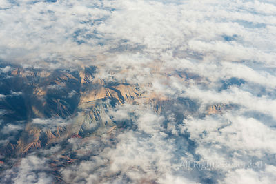 Airplane Window View Over the Argentinian High Andes Mountains (cordilliera De Los Andes) Northwest Argentina Jujuy Salta Are...