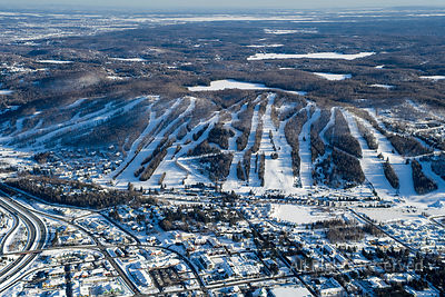 St-Sauveur in Winter Quebec Canada